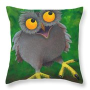 Owlvin Throw Pillow