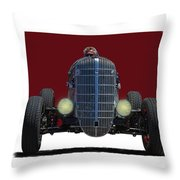 Owner Designed And Built Race Car Throw Pillow