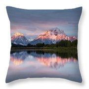 Oxbow Bend Sunrise Throw Pillow