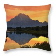 Oxbow Sunset 13 Throw Pillow