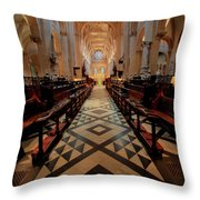 Oxford Cathedral Nave Throw Pillow