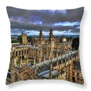 Oxford University - All Souls College Throw Pillow by Yhun Suarez