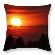 Oxfordshire Sunset Throw Pillow by Jeremy Hayden