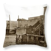 Oxnard Cannery Cannery Row 1977 Throw Pillow