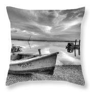 Oyster Boat Ap3392 Throw Pillow
