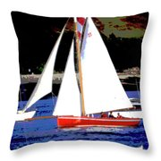 Oyster Boats Throw Pillow
