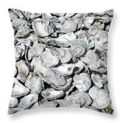 Oyster Shells On Cumberland Island Throw Pillow