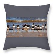 Oystercatchers Throw Pillow
