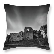 Oystermouth Casle At Mumbles Throw Pillow
