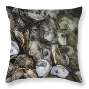 Oysters Four Throw Pillow