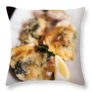 Oysters Rockefeller Throw Pillow