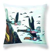 Oz Flying Monkeys  Throw Pillow
