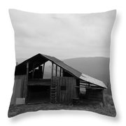Ozark Barn Throw Pillow