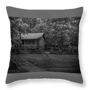 Ozark Cabin Throw Pillow