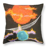 Ozone Net Throw Pillow