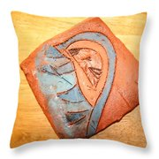 Ozukusee - Tile Throw Pillow