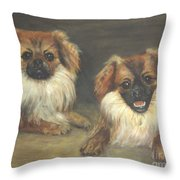 Ozzie And Teddy Throw Pillow