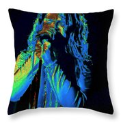 The Cosmic Spiral Architect Throw Pillow