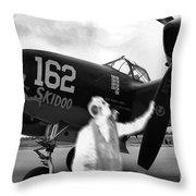 P-38 Ghost Flight Throw Pillow