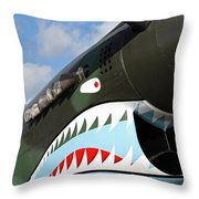 P-40 Flying Tigers Throw Pillow