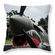 P - 40 Warhawk - 5 Throw Pillow
