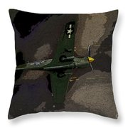 P 40 Warhawk In Action Throw Pillow