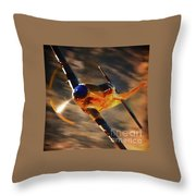 P-51 Mustang 'grim Reaper' And Dan Martin For Clothing Throw Pillow