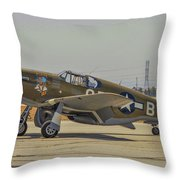 P-51c Mustang Throw Pillow