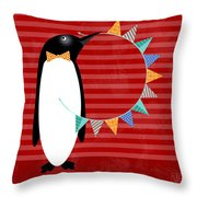 P Is For Penguin Throw Pillow