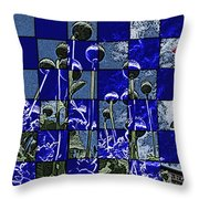 P Patch Poppies Throw Pillow