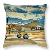 P38 Fly In Throw Pillow