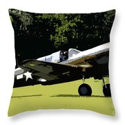 P40 Take Off Throw Pillow