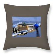 P51d Mustang At Salinas Throw Pillow