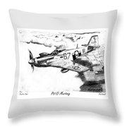 P51d Mustang Throw Pillow