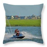 P8038801 Jet Skis Throw Pillow