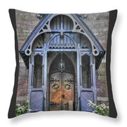 Pa Country Churches - Coleman Memorial Chapel Exterior - Near Brickerville, Lancaster County Throw Pillow