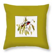 pa TonyOliver AustralianBirds 13 MistletoeBird Tony Oliver Throw Pillow