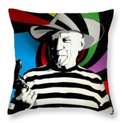 Pablo Colores Throw Pillow