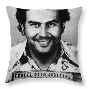 Pablo Escobar Mug Shot 1991 Vertical Throw Pillow