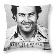 Pablo Escobar Mugshot Throw Pillow