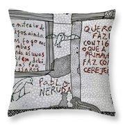 Pablo Neruda Throw Pillow