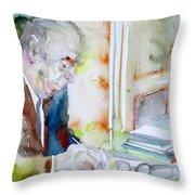 Pablo Neruda - Watercolor Portrait.8 Throw Pillow