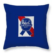 Pabst Blue Ribbon Beer. Throw Pillow