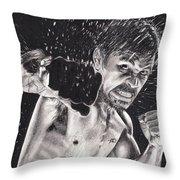 Pac-man Throw Pillow by Joshua Navarra