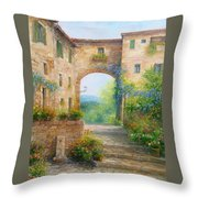 Pace In Toscana - Italy Throw Pillow