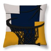 Pacers Hoop Throw Pillow