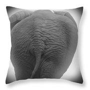 Pachyderm Posterior Throw Pillow