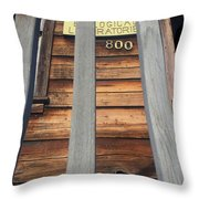 Pacific Biological Laboratories 800 Cannery Row, Monterey 2016 Throw Pillow