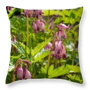 Pacific Bleeding Heart 2  Throw Pillow