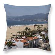 Pacific Coast Highway Along Santa Monica Beach Throw Pillow